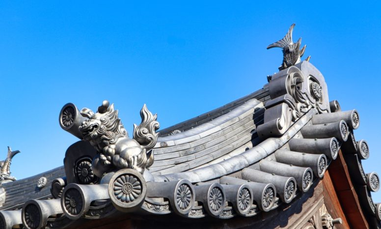 圓通寺西門の化粧瓦