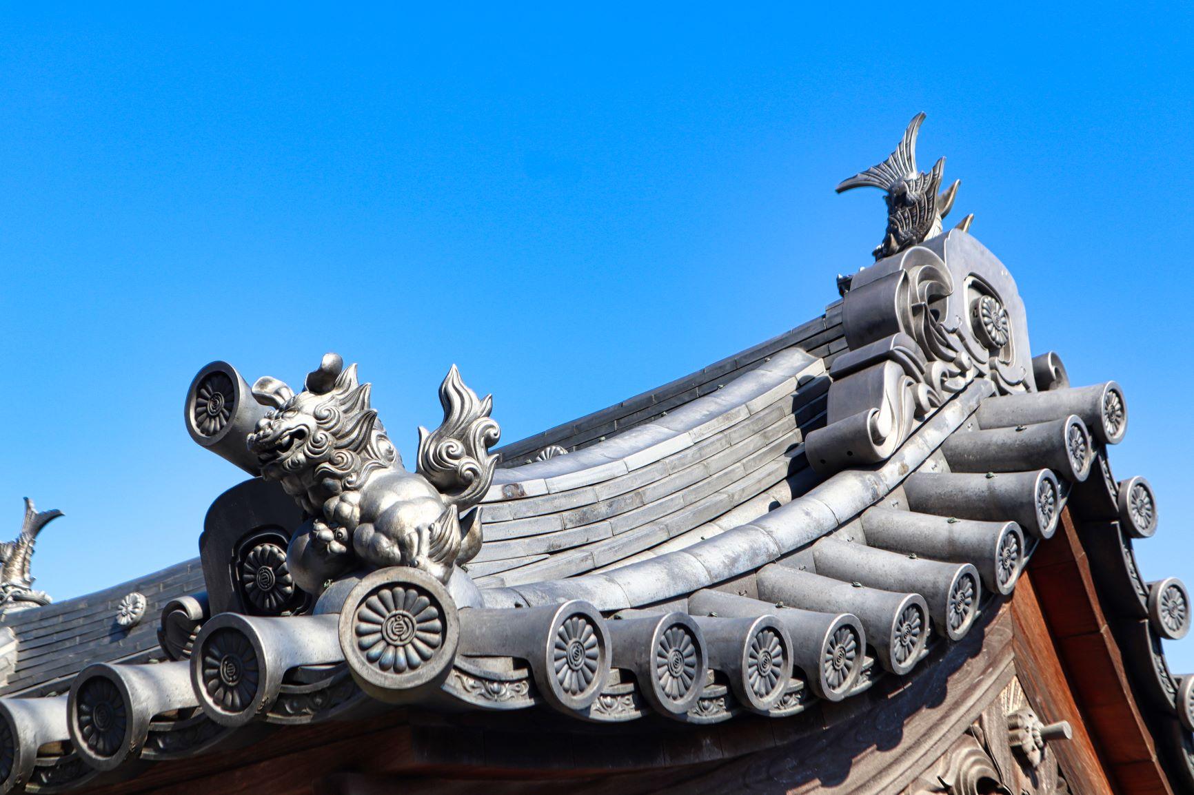 圓通寺の装飾瓦